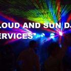 Cloud and sun dj services logo