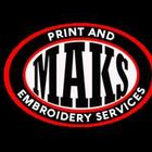 MAKS print and embroidery services