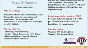 Photo by Peace and Harmony Intergrative counselling Services