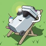 planet illustration profile image.